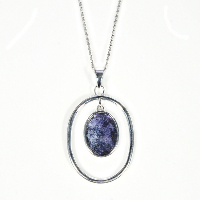 Silver victoriana design blue john silver blue john pendant and chain victoriana aloadofball Image collections
