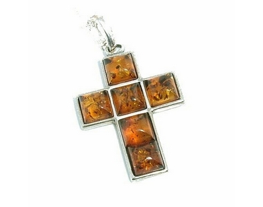 Crosses - Silver Amber