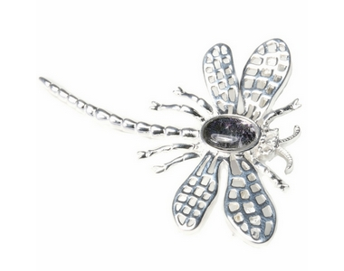 Silver / Blue John Dragonfly Brooch (Lace Wing)