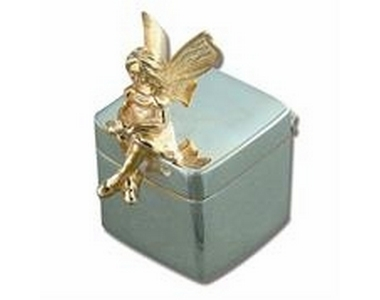 Silver/Gold Fairy on Cube
