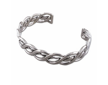 Silver Celtic Torque Bangle