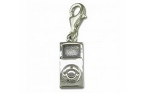 Silver MP3 Player Clip On Charm SCH94
