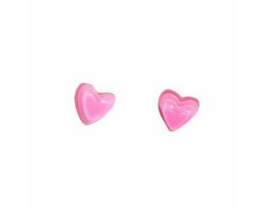 Earrings - Silver/Pink Heart