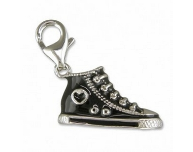 Charms -  Silver/Black Converse High Back