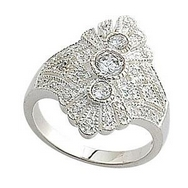 Rings - Silver CZ Pave