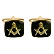 Black Enamel Masonic Cufflinks