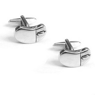 Computer Mouse Cufflinks - Rhodium Plated