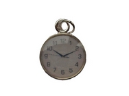 Silver Plated Pocket Watch Charm