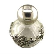 Silver/Glass Perfume Bottle
