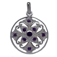 Pendants - Silver Filigree Amethyst