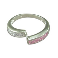 Silver CZ ''Open'' Ring