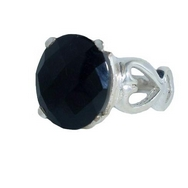 Silver/Onyx Ring