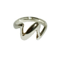 Silver Contemporary 'Flash' Ring