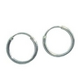 Earrings - Silver 11mm Hoop/Sleepers