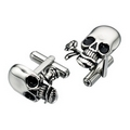 'Decorated Skull Cufflinks