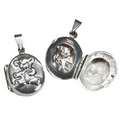 Silver Teddybear Locket and Chain