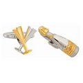 Champagne Glasses & Bottle - Cufflinks