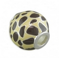 Silver and Coloured Enamel Bead