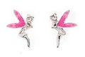 Silver Fairy Stud Earrings