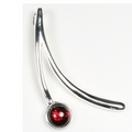 Silver Sweep / Garnet Pendant and Chain