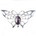 Silver / Blue John Butterfly Brooch/Pin