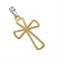 Silver/Gold Plate Cross on Chain