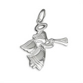 Silver Angel Trumpeter Pendant and Chain