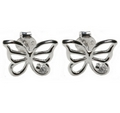 Earrings - Silver Butterfly / Cubic Zirconia