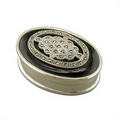 Silver/Onyx/Marcasite  - Keeper or Pill Box