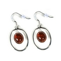 Silver 'Victoriana' / Amber Earrings