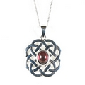 Silver Celtic Fleur (Pendant and Chain)