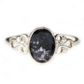 Silver / Blue John Ring - Looped Shoulders