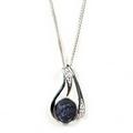 Silver / Derbyshire Blue John 'Bliss' Pendant and Chain