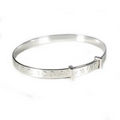 Silver Embossed Child Bangle