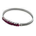 Silver / Fuchsia Bangle