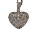 Silver CZ Heart (Pendant and chain)