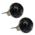 Silver / Blue John Stud Earrings