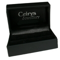 Silver Polished Edge / Onyx Cufflinks
