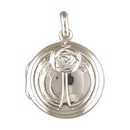 Silver Round Mackintosh Locket and Chain