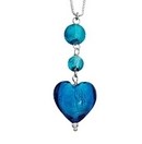 Silver Blue Stones Pendant and Chain
