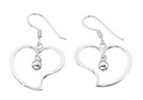 Earrings - Silver 'Abstract