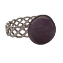 Silver Amethyst Celtic Band Ring