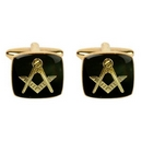 Black Enamel Masonic (Freemason) Cufflinks