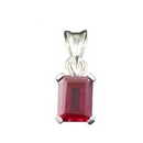 Pendant  - Silver with Siberian Ruby
