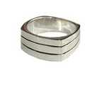 Silver 'Tiered' Ring