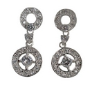 Earrings - Silver Linked-Circles
