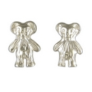 Earrings - Silver Teddy Bear