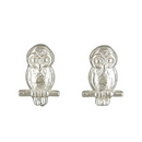 Earrings - Silver Owl Studs