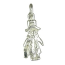 Popular Silver Cartoon-Like Bear Charm
