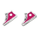 Silver / Coloured Converse Shoe Stud Earring